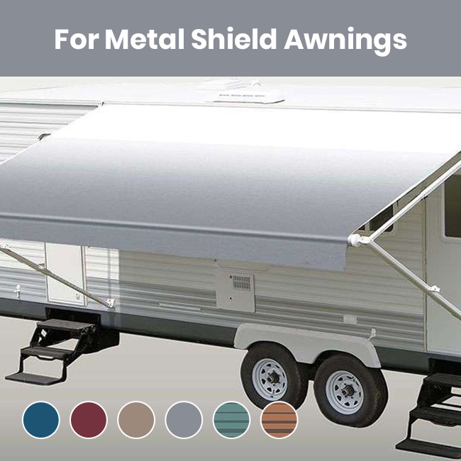 Rv Patio Awning Fabric For Metal Shield Rv Awnings Mart