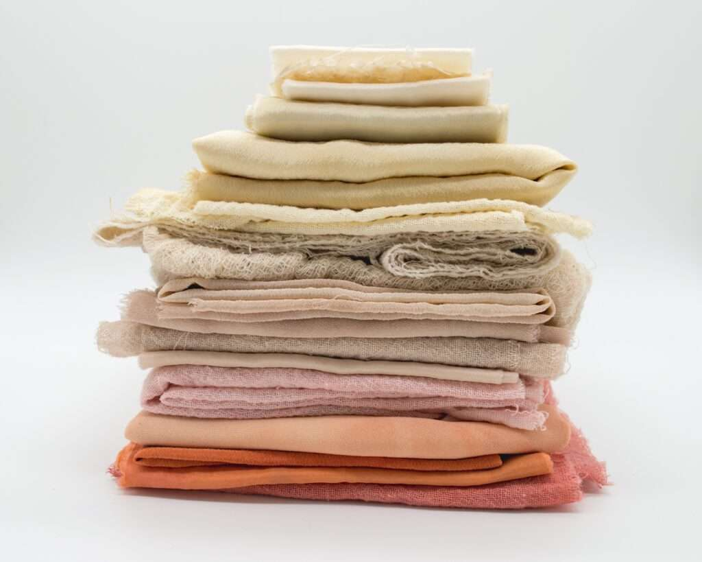 A stack of custom fabric
