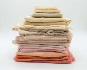 A stack of custom fabric